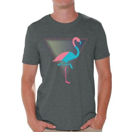 Awkward Styles Flamingo Party Tshirt for Men Retro Flamingo Shirt Flamingo Shirts for Men Flamingo Gifts Vintage Flamingo T Shirt Flamingo Summer Party Beach Shirts for Men Cool Flamingo Design Shirt