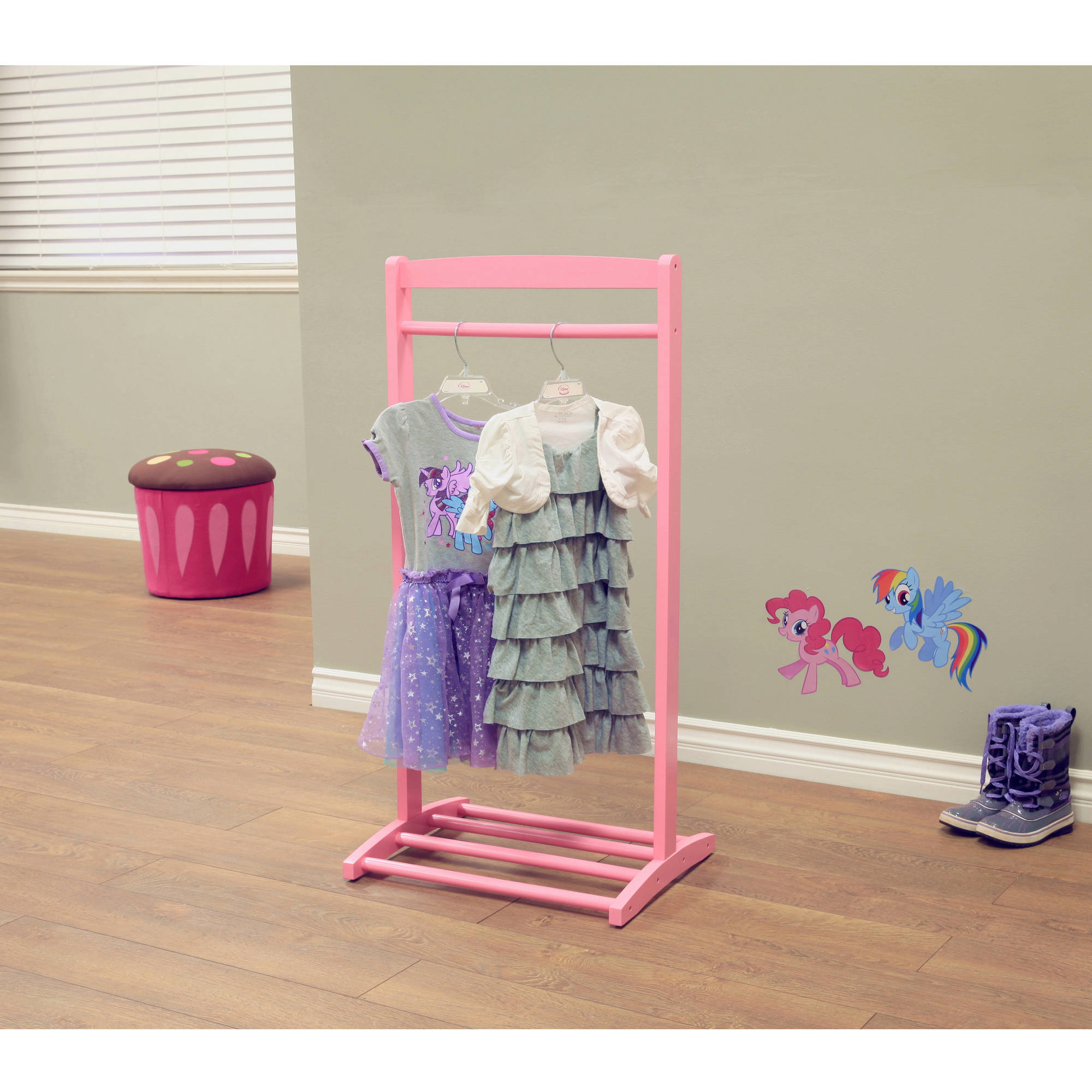 Home Craft Kids Clothes Rack Pink