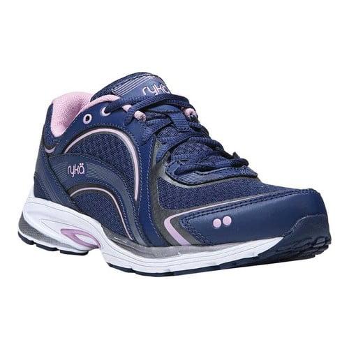 ryka sky walk walking shoe, navy/lilac