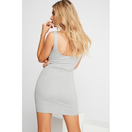 Urban Planet Women's Basic Scoop Neck Sleeveless Mini Dress - image 4 de 8