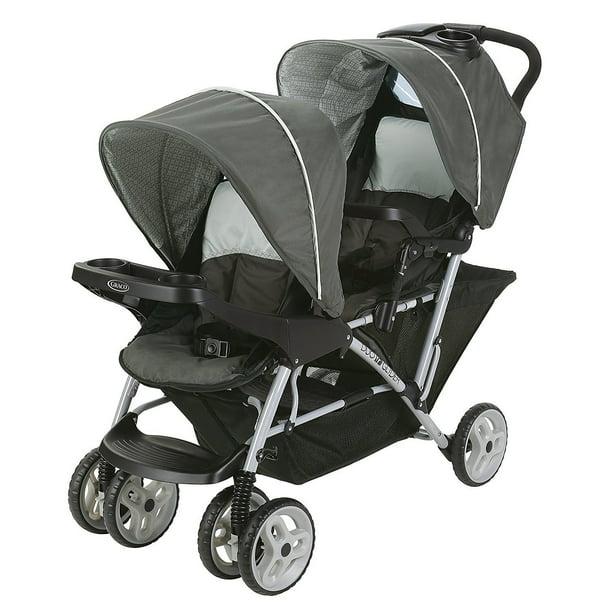 Graco DuoGlider Double Stroller, Glacier - Walmart.com ...
