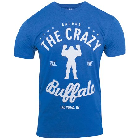 - Capcom Crazy Buffalo Premium Fitted T-Shirt - Royal Blue Heather