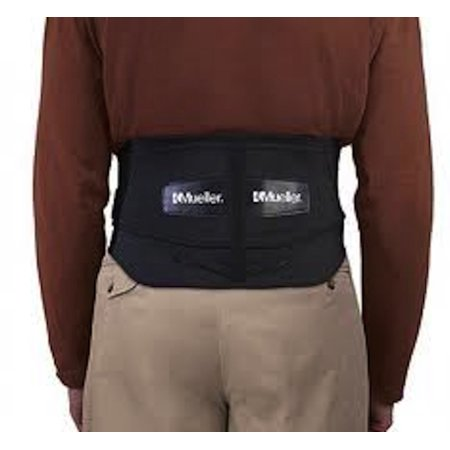 """Mueller Adjustable Lumbar Back Brace with Removable Pad, Plus Size, Fits Waist Sizes 50"""" - 70"""""""