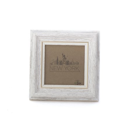 4x4 Picture Frame White / Gold - Mount the Photo on the Wall or ...