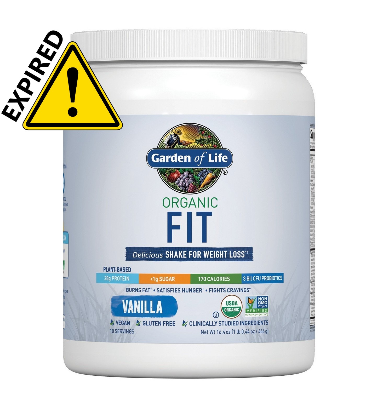 Garden Of Life Organic Fit Protein Powder Vanilla 16 4 Ounces Pack Of 1 1 0 Pound White Expired Walmart Canada