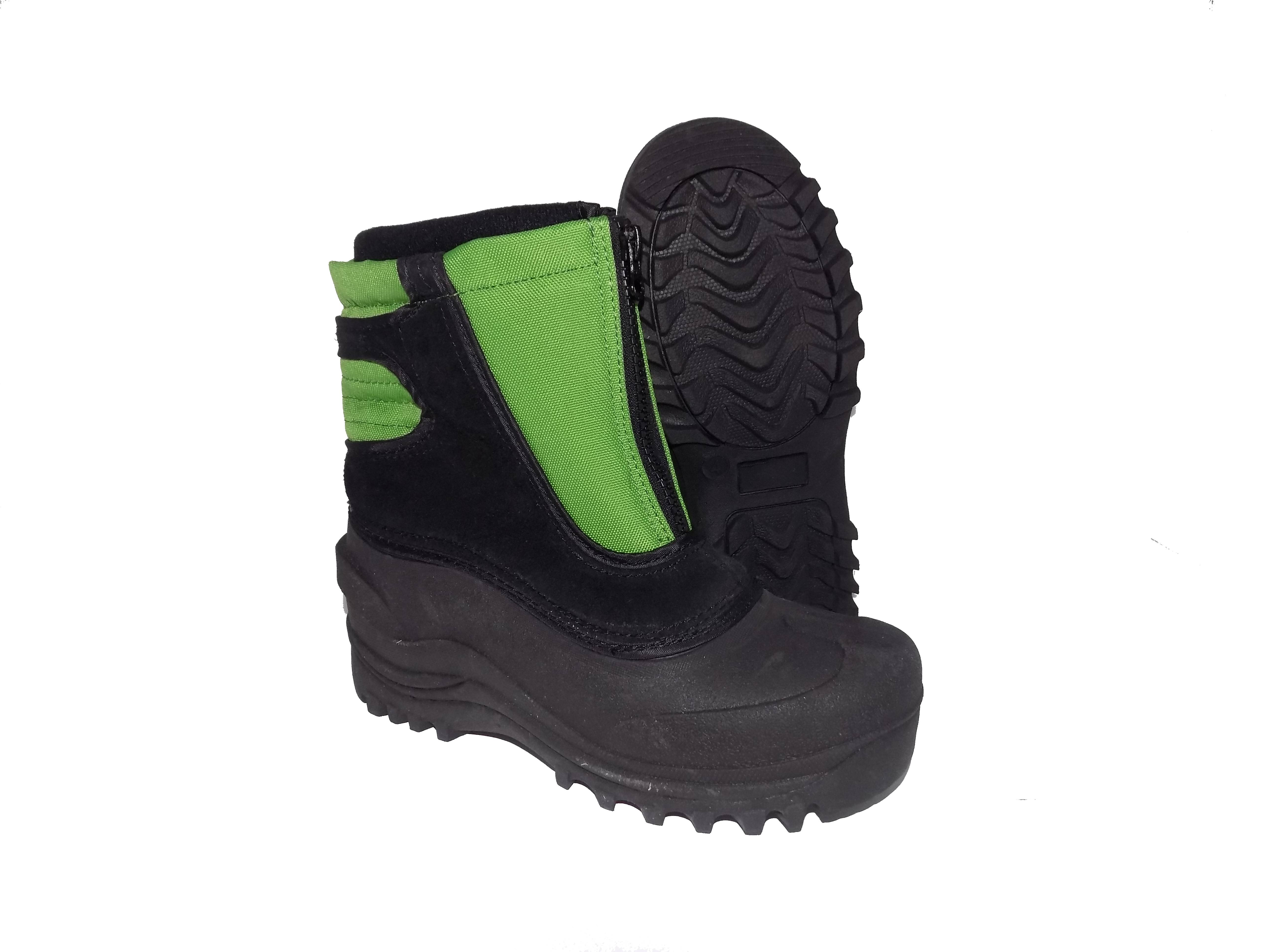 Cold Front SNOW BUSTER Boys Girls Green Black Warm Winter Snow Boots by Cold Front