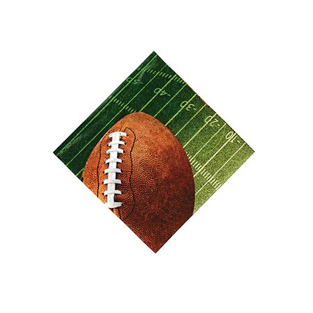 Fun Express - Football Beverage Napkins (16pc) for Party - Party Supplies - Print Tableware - Print Napkins - Party - 16 Pieces Fun Beverage Napkins