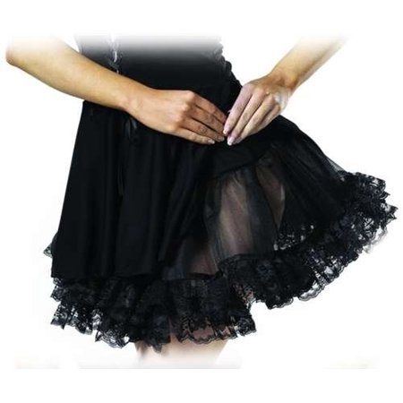 Cinema Secrets 99081 - Child Size Lace Petticoat - Black (Lace Petticoat)