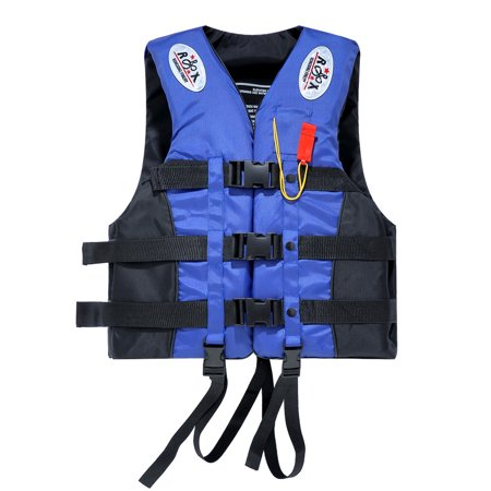 UBesGoo Life Jacket Vest, Adult Fully Enclosed Water Sport Safty Swimwear, with Whistle, for Summer Safety Water Sport, L XL XXL XXXL (Life Jacket Adult Small)