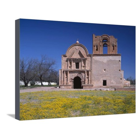 USA, Arizona, Tumacacori National Historical Park, Remains of Mission Church San Jose De Tumacacori Stretched Canvas Print Wall Art By John Barger ()