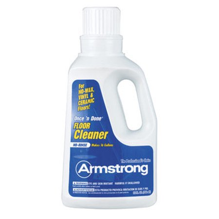Armstrong Once'N Done Citrus Scent Floor Cleaner 32 oz. Liquid - Case Of: 1 Resilient Floor Cleaner