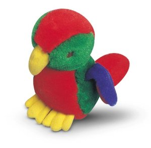 Multipet Look Who's Talking Parrot Dog Toy Multi-Colored