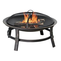 Blue Rhino Brushed Copper Wood Burning Outdoor Fire Bowl, Large