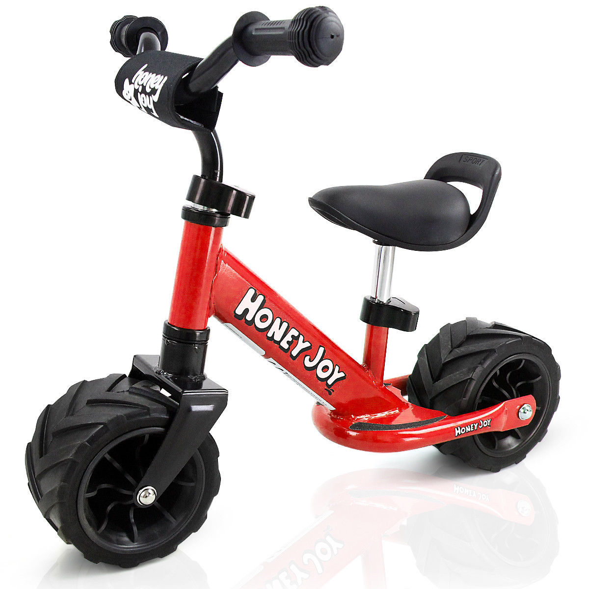 Goplus 6.5'' Kids Balance Bike No Pedal Adjustable Height Wide PU Tire Cycling Training