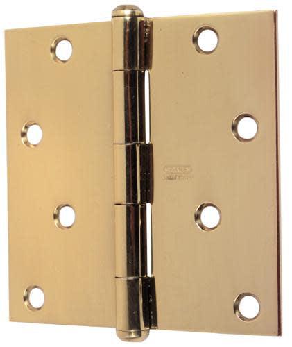 """Stanley Solid Brass 4/""""x4/"""" Door Hinges 3 pack NEW"""