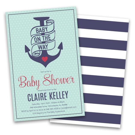 Personalized Nautical Personalized Baby Shower Invitations