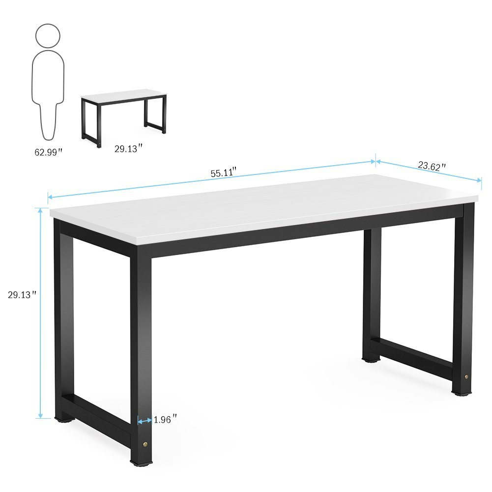 Tribesigns Computer Desk 55 Large Office Desk Computer Table