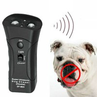 Pet Anti Dog Barking Pet Trainer LED Light Ultrasonic Gentle Chase Training Double Head Trumpet