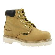 "AdTec Women's 6"" Nubuck Leather Work Boot, Tan Classic Style 2983"