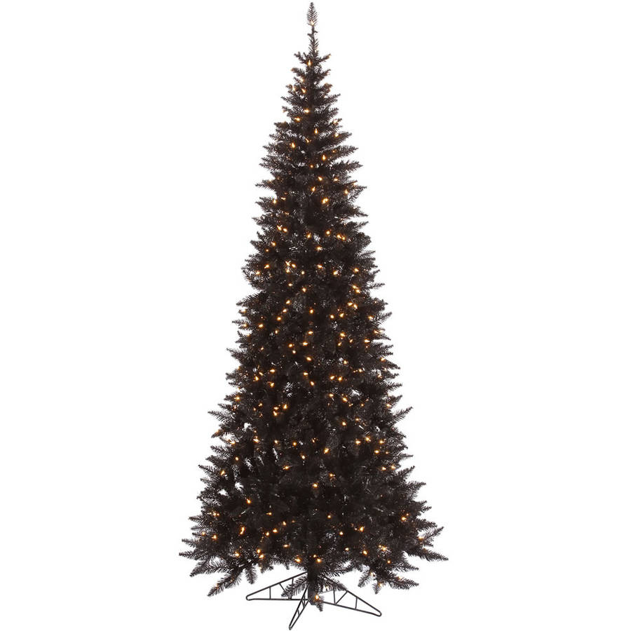 Vickerman 9' Black Fir Artificial Christmas Tree with 700 Clear Lights