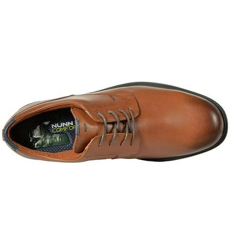 Nunn Bush Marvin Street Plain Toe Oxford with KORE Slip Resistant Walking Comfort Technology Tan Toe Slip Resistant Oxford