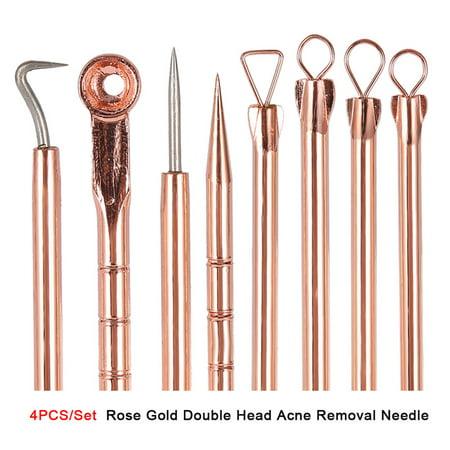 Yosoo Acne Remover Tool, Acne Removal Tool,4PCS/Set Stainless Steel Blackhead Acne Blemish Pimple Removal Needle Kit
