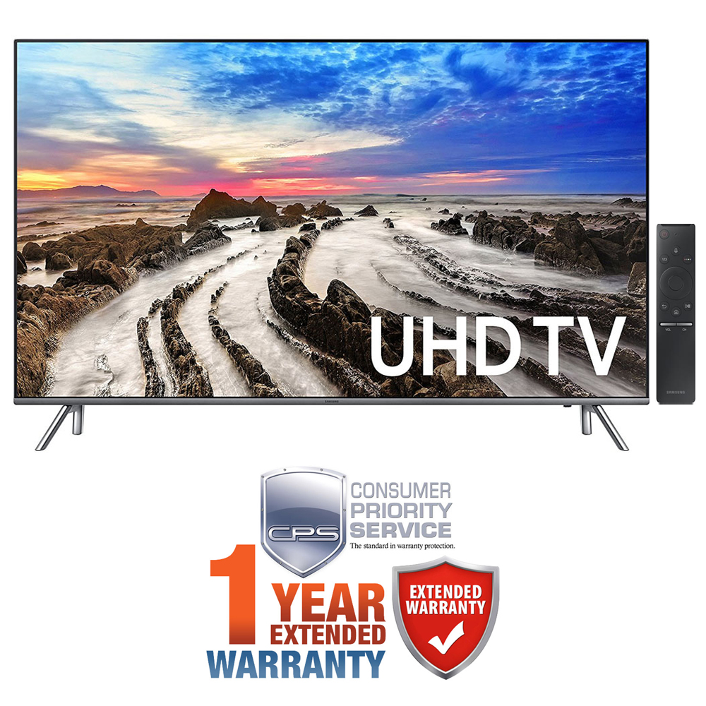 "Samsung UN55MU8000FXZA 55"" 4K Ultra HD Smart LED TV (2017 Model) + Extended 1"
