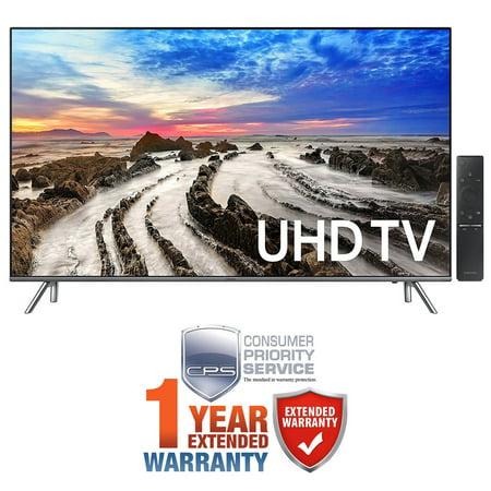 Samsung Un55mu8000fxza 55   4K Ultra Hd Smart Led Tv  2017 Model    Extended 1 Year Warranty Bundle