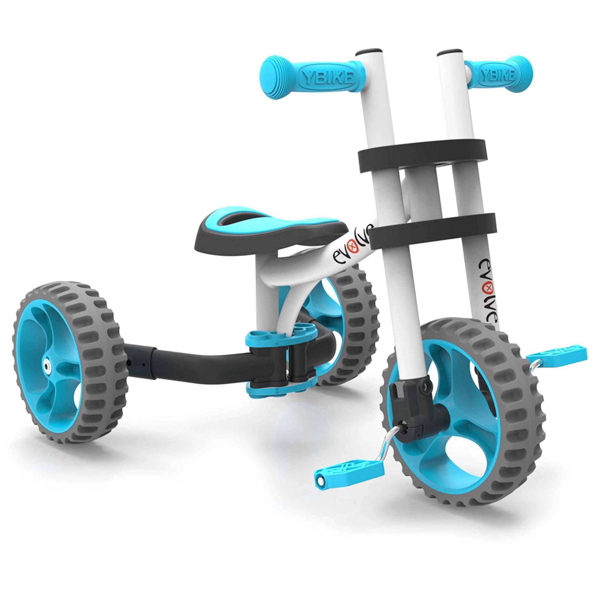 YBIKE Evolve Balance Trike, White/Blue