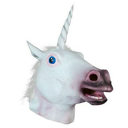 Latex Unicorn Mask Cosplay Animal Head Mask Halloween Costume Theater Prop for $<!---->