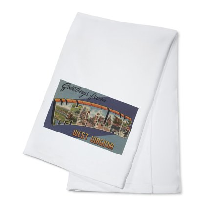 Greetings From Wheeling  West Virginia  100  Cotton Kitchen Towel