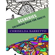 Colouring Books for Adults: Sceneries: Colouring Book For Adults (Paperback)