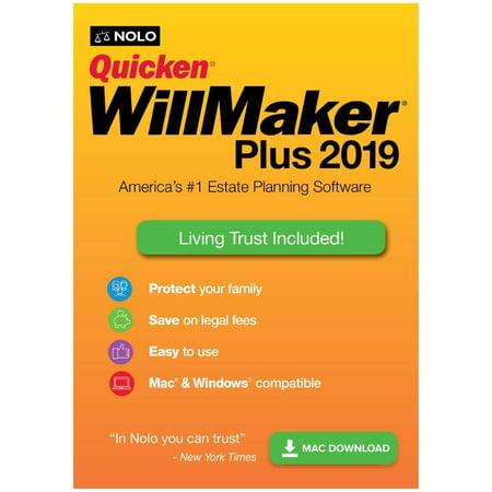 Quicken WillMaker Plus 2019 MAC Estate Planning (Digital