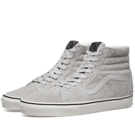 Vans SK8 Hi Hairy Suede Gray Dawn Men's Classic Skate Shoes Size 13