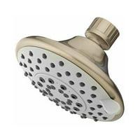 Showerhead Fixed-Mount Plastic 5-Settings, Brushed Nickel