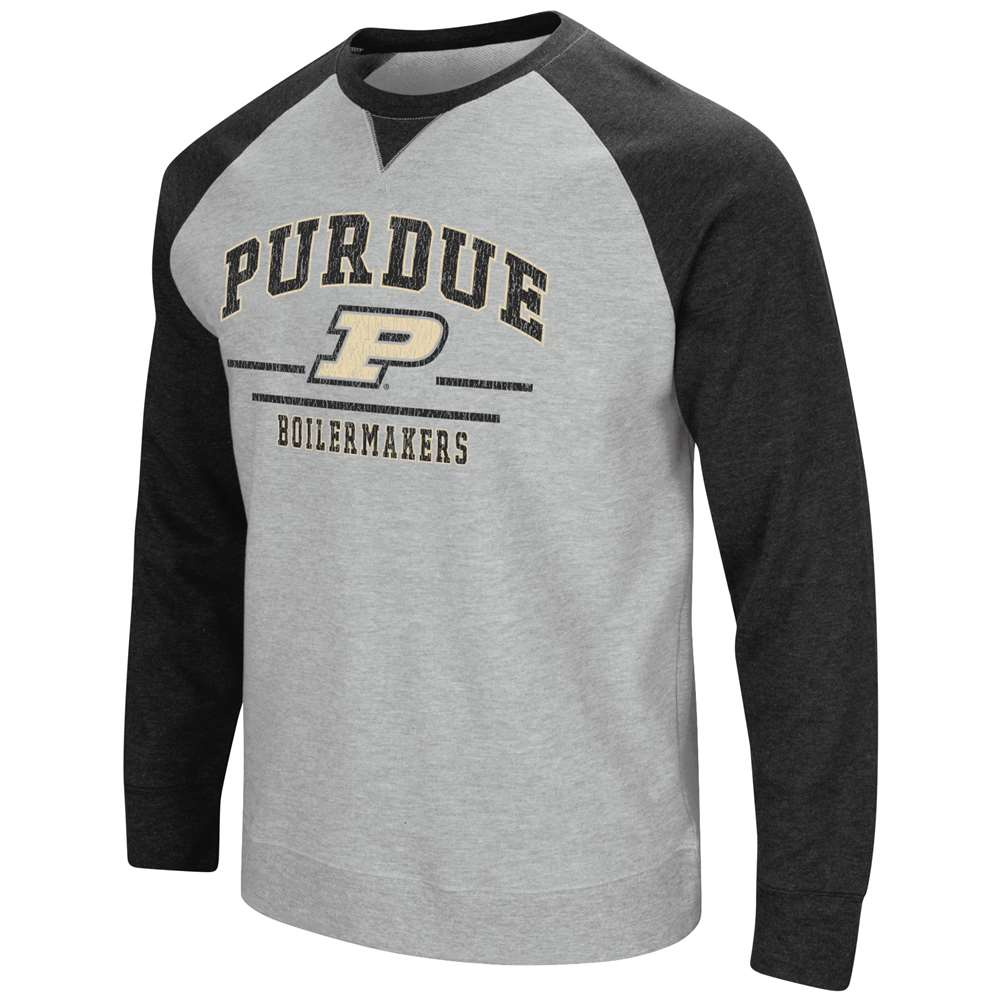 Purdue Boilermakers Colosseum Turf Fleece Crew Sweatshirt