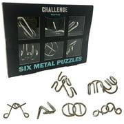 Zummy Brain Teasar 3D Metallic Puzzle Pack (6 Puzzles)