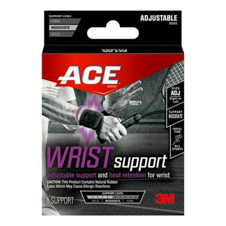 (2 Pack) ACE Adjustable Wrist Support, Black,