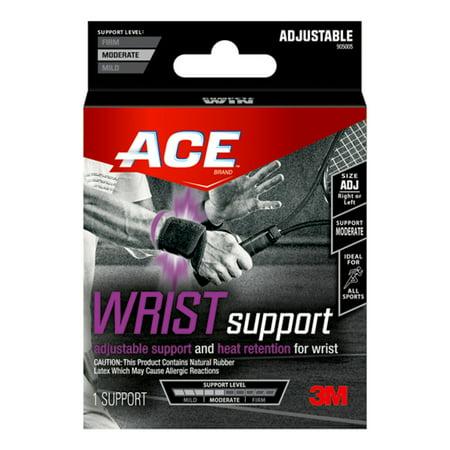 Ace Wrist Brace - (2 Pack) ACE Adjustable Wrist Support, Black, 1/pack