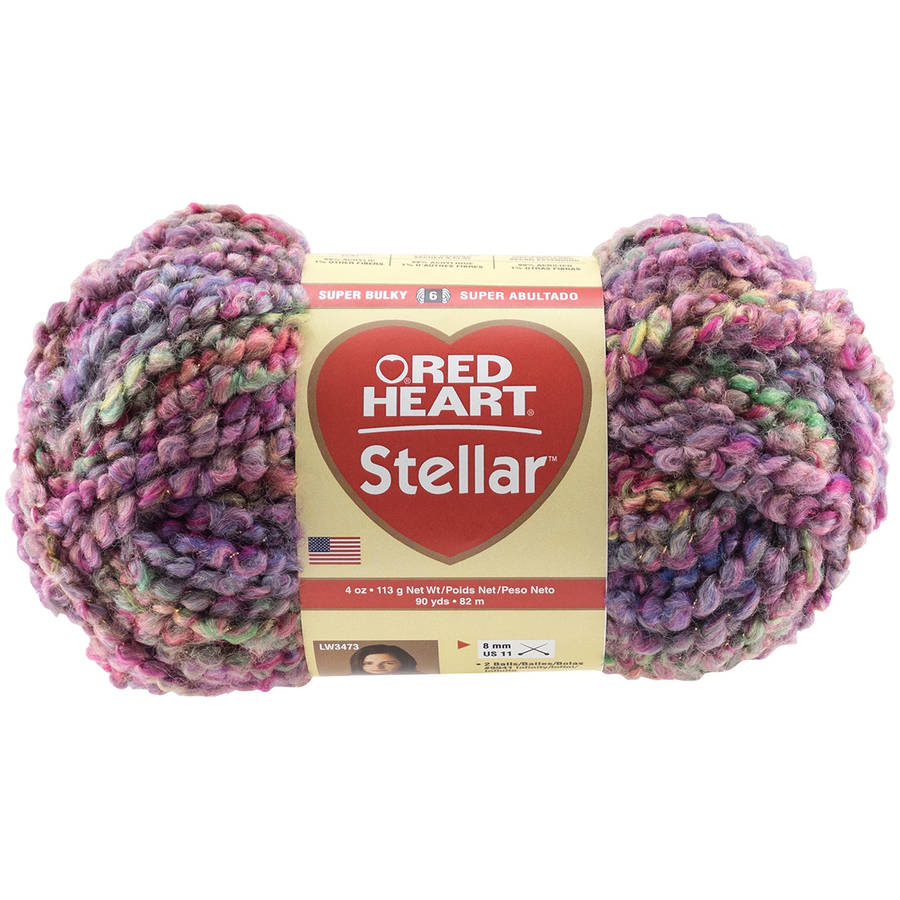 Red Heart Stellar Yarn, Available in Multiple Colors