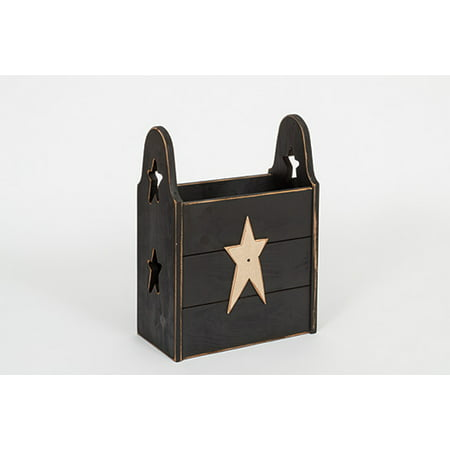 Furniture Barn USA™ Primitive Rustic Country Wooden Trash Can ()
