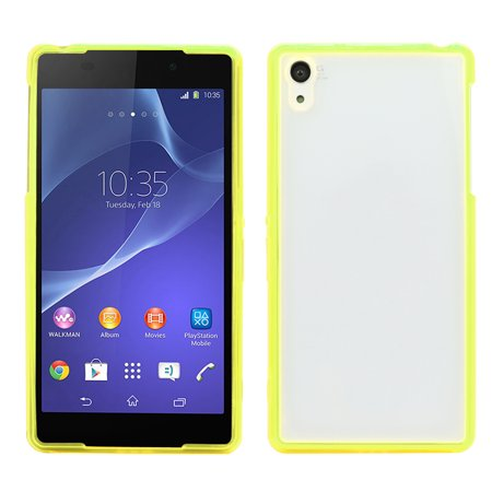 CBD Colorful TPU Bumper and Acrylic Hard Rubber TPU Bumper Hybrid Protective For SONY Z2 L50W D6502 D6503 - Yellow
