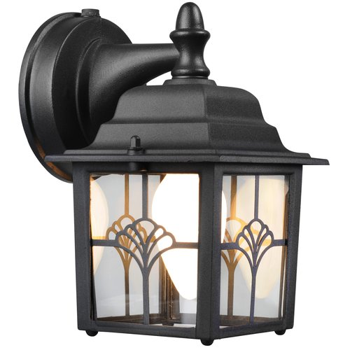 Hampton Augustine Lantern Dusk To Dawn Activated, Outdoor Security Lighting, Matte Black