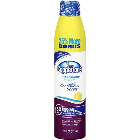 Coppertone Clear Broad Spectrum Sunscreen SPF 50, 7.5 fl oz