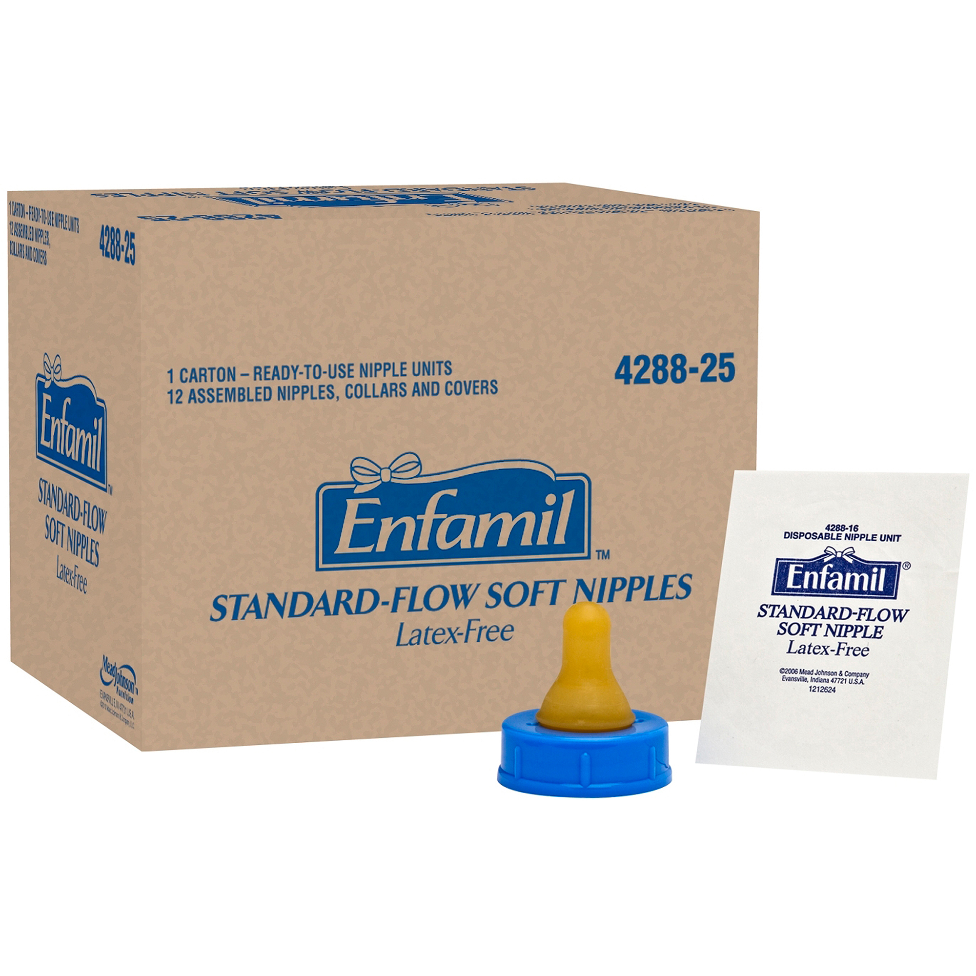 Enfamil Standard-Flow Soft Nipples, 12-Pack, Latex-Free