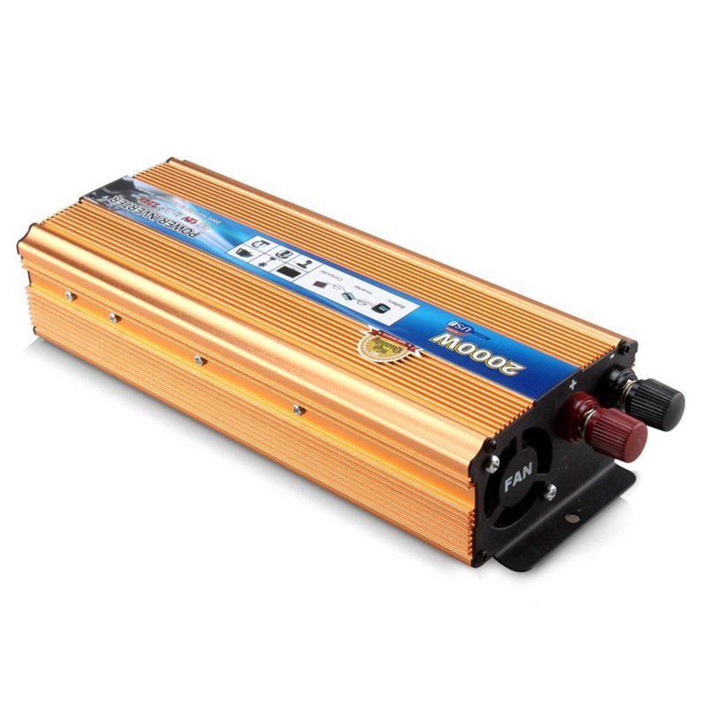 4000W Peak Modified Sine Wave Power Inverter DC 12V Converter With USB Port