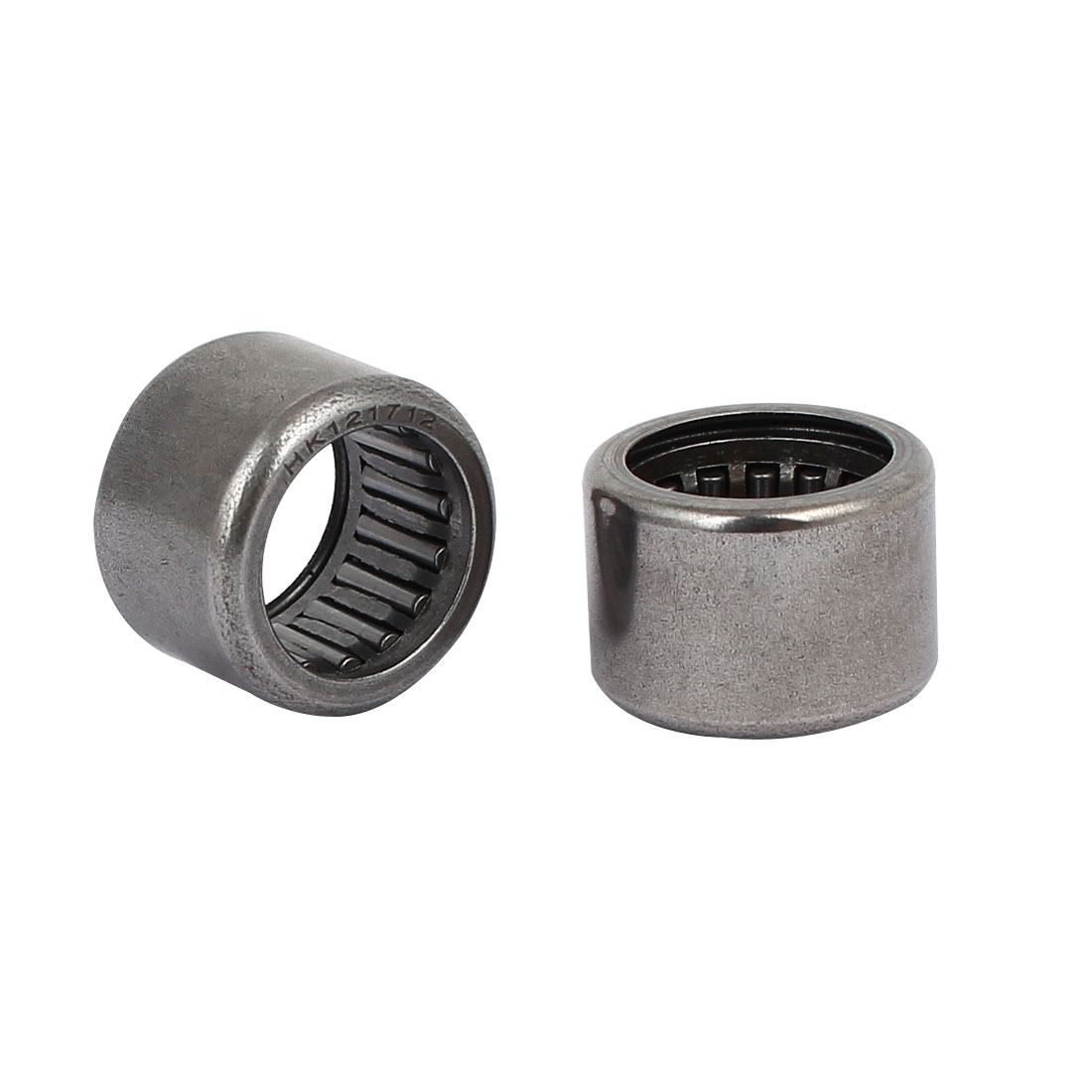 12mm x 17mm x 12mm Full Complement Drawn Cup Open Needle Roller Bearings 5PCS - image 2 of 3