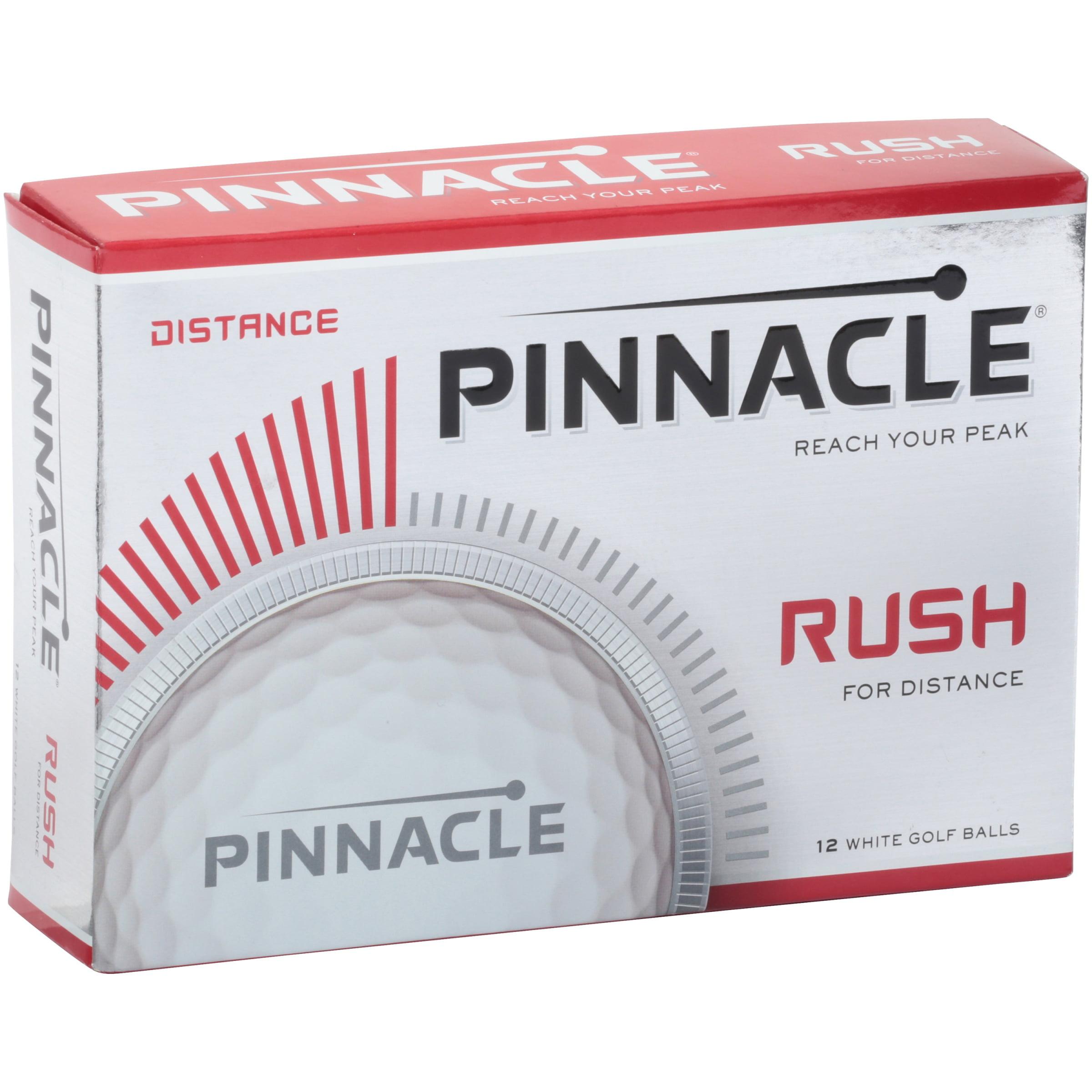 Pinnacle Rush for Distance Golf Balls, 12 Pack