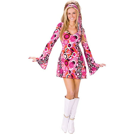 Groovy Girl Adult Halloween Costume (Cute Halloween Costumes For Girl Best Friends)