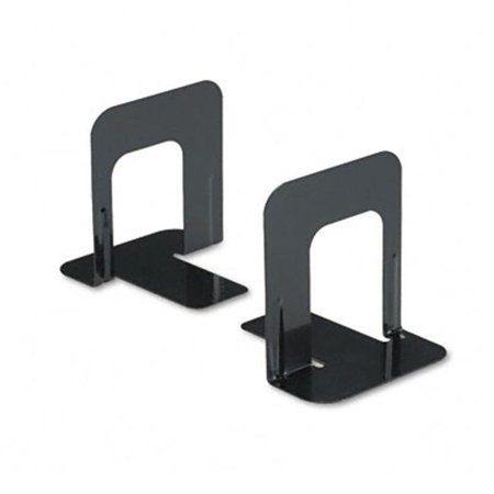 Steel Bookends (Universal 54055 Standard Deluxe Bookends with Nonskid Base  4-3/4 x 5-1/4 x 5  Steel  Black)